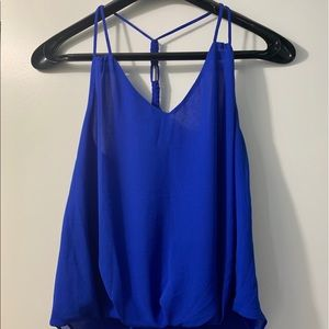 Blue Tank Blouse